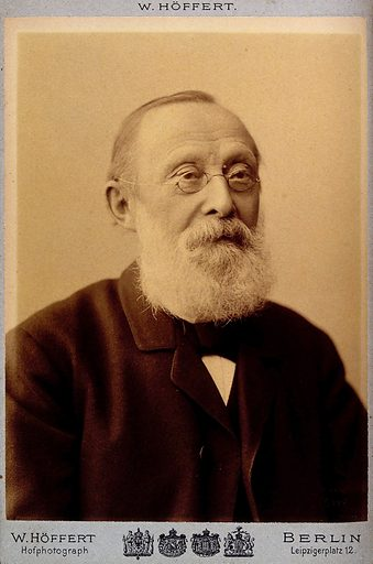 Rudolph Virchow, head and shoulders. Photograph, 1893. Created 1893. Rudolf Virchow (1821–1902). Work ID: hdpchwd7.