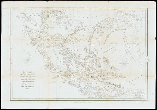 Map of the strait of Magellan. Work ID: vu5dpy4a.