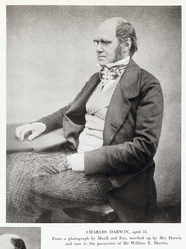 Charles Darwin, aged 51. Work ID: w2w94u9k.