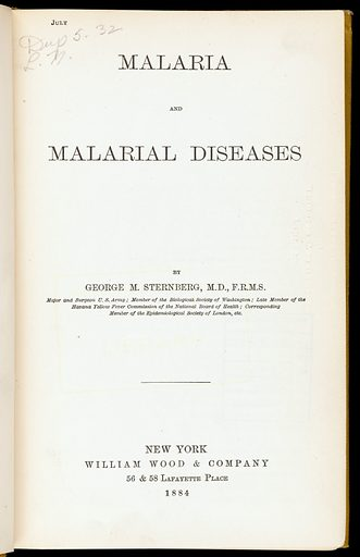 Malaria and malarial diseases. Title page. Work ID: zmyp58pe.