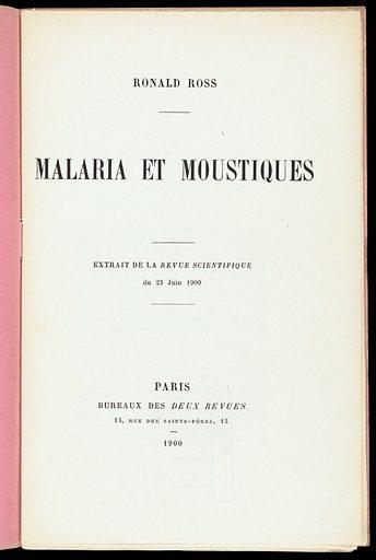 Malaria et moustiques. Title page. Work ID: mar58qzu.