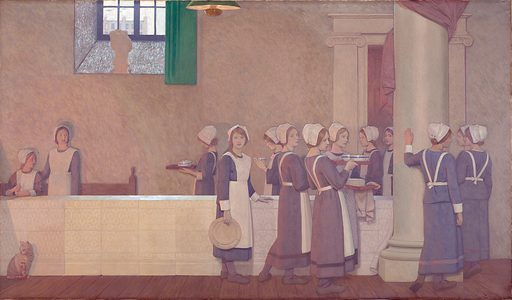 Oil Painting by Cayley Robinson. Contributors: Frederic Cayley Robinson. Work ID: mhxr9bbh.