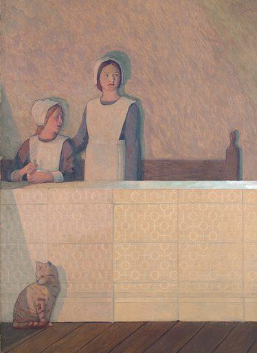Oil Painting by Cayley Robinson. Contributors: Frederic Cayley Robinson. Work ID: bqz3umbu.