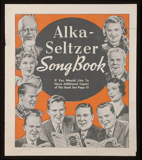 Cover of the Alka-Seltzer Song Book. Work ID: yb3vy83p.