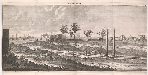 Illustration showing the coast at Alexandria. Work ID: zzz3muk2.