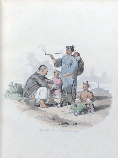 A Peasant, with his wife and family. Clothes. Work ID: xjd2sbfv.