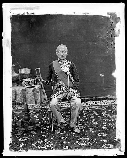 King Mongkut of Siam, Bangkok. The 1st King of Siam, King Mongkut, in western style state robes, Bangkok, Siam. Contributors: J Thomson. Work ID: gnam3wgv.
