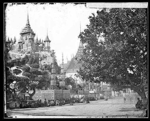 Bangkok, Siam [Thailand]. Photograph by John Thomson, 1865. Contributors: J Thomson. Work ID: t7mhvers.