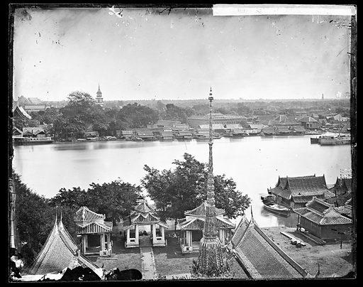 Bangkok, Siam [Thailand]. Photograph by John Thomson, 1865. Contributors: J Thomson. Work ID: pjhekt8u.