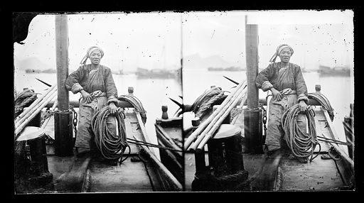 Yangtze river, China. Photograph by John Thomson, 1871. Contributors: J Thomson. Work ID: eecm2gm3.
