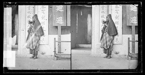Hong Kong: a mendicant priest by John Thomson, 1869. Hong Kong: a mendicant priest. Photograph by John Thomson, 1869. Contributors: J Thomson. Work ID: t4gs3san.