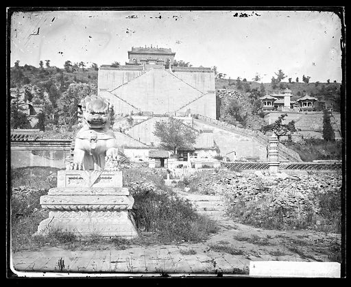 Ruins of the sculptured terrace, Longevity Hill, John Thomson. Beijing, Pechili province, China: ruins of the sculptured terrace, Longevity Hill, the Garden of Clear Ripples. Photograph by John Thomson, 1871. Contributors: J Thomson. Work ID: s8hr2g65.