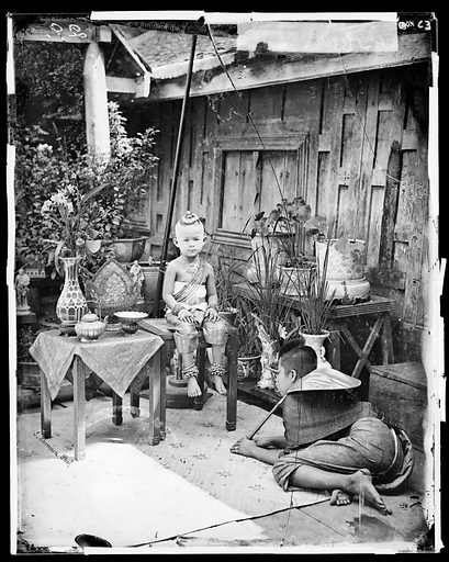 Siamese prince by John Thomson. Siam [Thailand]. Photograph by John Thomson, 1865. Contributors: J Thomson. Work ID: xyquhcd9.