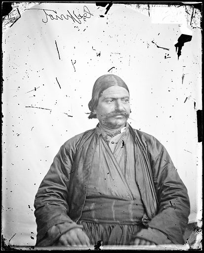A seated Cypriot man by John Thomson. Cyprus. Photograph by John Thomson, 1878. Contributors: J Thomson. Work ID: k6wkbx4h.