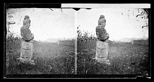 Statues at Ming tombs, Nanking by John Thomson. Nanking, Kiangsu province, China. Photograph by John Thomson, 1871. Contributors: J Thomson. Work ID: svyvdub2.