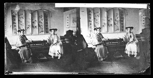 Manchu ladies by John Thomson. China. Photograph by John Thomson, 1869. Contributors: J Thomson. Work ID: h8qebmrb.