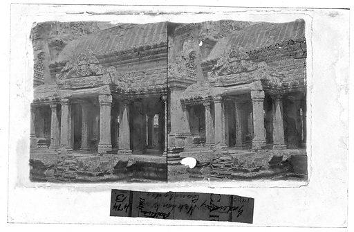 A gateway or portico Nakhon Thom by John Thomson. Nakhon Thom [Angkor Wat], Cambodia. Photograph by John Thomson, 1866. Contributors: J Thomson. Work ID: ytwfd4c7.
