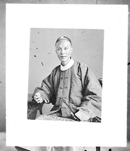 Cantonese mandarin official by John Thomson, 1869. Canton, Kwangtung province, China: a Cantonese mandarin official. Photograph by John Thomson, 1869. Contributors: J Thomson. Work ID: wx27vw2b.