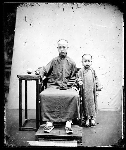 Mandarin's sons Canton by John Thomson. Canton, Kwangtung province, China. Photograph by John Thomson, 1869. Contributors: J Thomson. Work ID: sc6etkca.