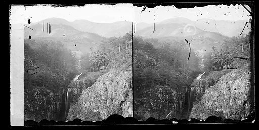 Snowy valley above Ning po, China. Snowy Valley, Chekiang province, China. Photograph by John Thomson, 1871. Contributors: J Thomson. Work ID: dmab99ak.
