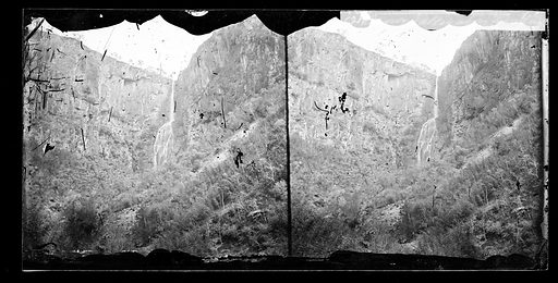 Snowy valley above Nankin. Snowy Valley, Chekiang province, China. Photograph by John Thomson, 1871. Contributors: J Thomson. Work ID: fs87a89v.