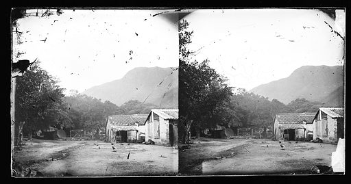A farm house with out-houses in China. China. Photograph by John Thomson, 1867. Contributors: J Thomson. Work ID: ta2tafgv.