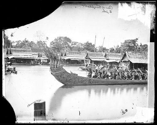 1st King's state barge, Bangkok, Siam 1866. Bangkok, Siam [Thailand]. Photograph by John Thomson, 1865. Contributors: J Thomson. Work ID: bve9utz2.
