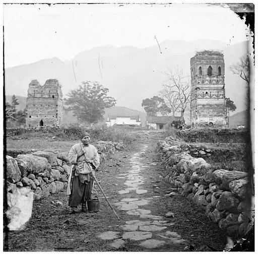 Kiukiang ruins, Taiping kung. Taiping kung, near Kiukiang, Kiangsi province: a ruined religious building, China. Photograph by John Thomson, 1872. Contributors: J Thomson. Work ID: ga5vr3kq.