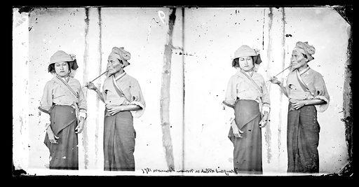 Young and old Baksa woman, Formosa, 1871. Baksa, Formosa [Taiwan]. Photograph by John Thomson, 1871. Contributors: J Thomson. Work ID: nvj6cc45.