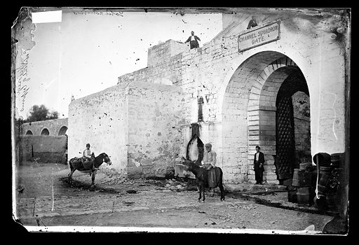 A fortified arched gate, Nicosia, Cyprus. Nicosia, Cyprus. Photograph by John Thomson, 1878. Contributors: J Thomson. Work ID: z9hzygaf.