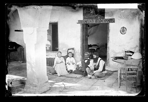 Greek family, Cyprus. Cyprus. Photograph by John Thomson, 1878. Contributors: J Thomson. Work ID: b6z47f3q.