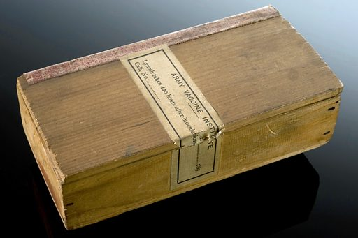 Small wooden box to hold calf lymph, England, 1900–1910. After calves had been inoculated with smallpox, the lymph containing white blood cells which fight against disease are extracted and preserved in capillary tubes. The lymph could then be used to vaccinate people against smallpox. Calf lymph replaced the human kind in 1898 as human lymph spread other infections, such as syphilis. Inoculation. Box – container. Contributors: Science Museum, London. Work ID: bvzbw9rk.