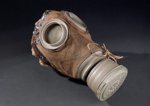Gas mask, Germany, 1915–1918. Poison gas was a new weapon during the First World War and was first used by the German Army in 1915. The British and French Armies soon followed suit. Fortunately, although good protective equipment was initially quite slow to develop, masks like this one eventually reduced poison gas to a major annoyance rather than the terrifying killer of the early attacks. Among the chemical weapons used was mustard gas, which caused burns to the skin and blindness. Phosgene gas was also used and was particularly dangerous as it is colourless and almost odourless. This gas affected the lungs and breathing and could also cause heart problems. Contributors: Science Museum, London. Work ID: hw3hnhkz.