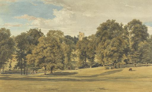 Bushey Church from the South West. Date: 1815–1825. Culture: British. Accession number: B1975.3.1040.