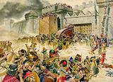 Samaria falling to the Assyrians