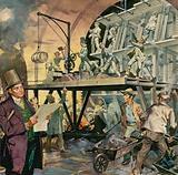 Brunel supervising tunnel construction