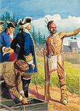 Louis Montcalm in discussions with American Indians