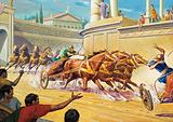 Chariot race at the Circus Maximus