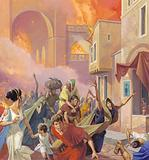 Escaping from the Great Fire of Rome in AD 64