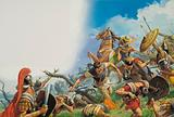 Hannibal defeating the Romans, Battle of Cannae, Second Punic War, 216 BC