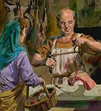 British Butcher in Roman Times