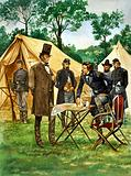 Abraham Lincoln plans his campaign during the American Civil War