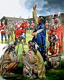 Indians and American Soldiers