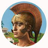 Ancient Greek in Helmet