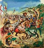 Battle between Crusaders and Saracens, Third Crusade, 1191–1192
