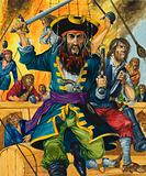 Blackbeard, notorious English pirate of the 18th Century