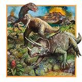 Dinosaurs with Volcano
