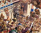 Fall of Jerusalem to the Babylonian army of Nebuchadnezzar II, 587 BC