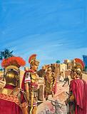Romans admiring Remnants of the Golden Age of Babylon