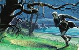 Unidentified Scene with Man Running